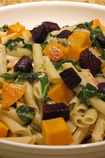 Butternut, Beets and Greens Pasta