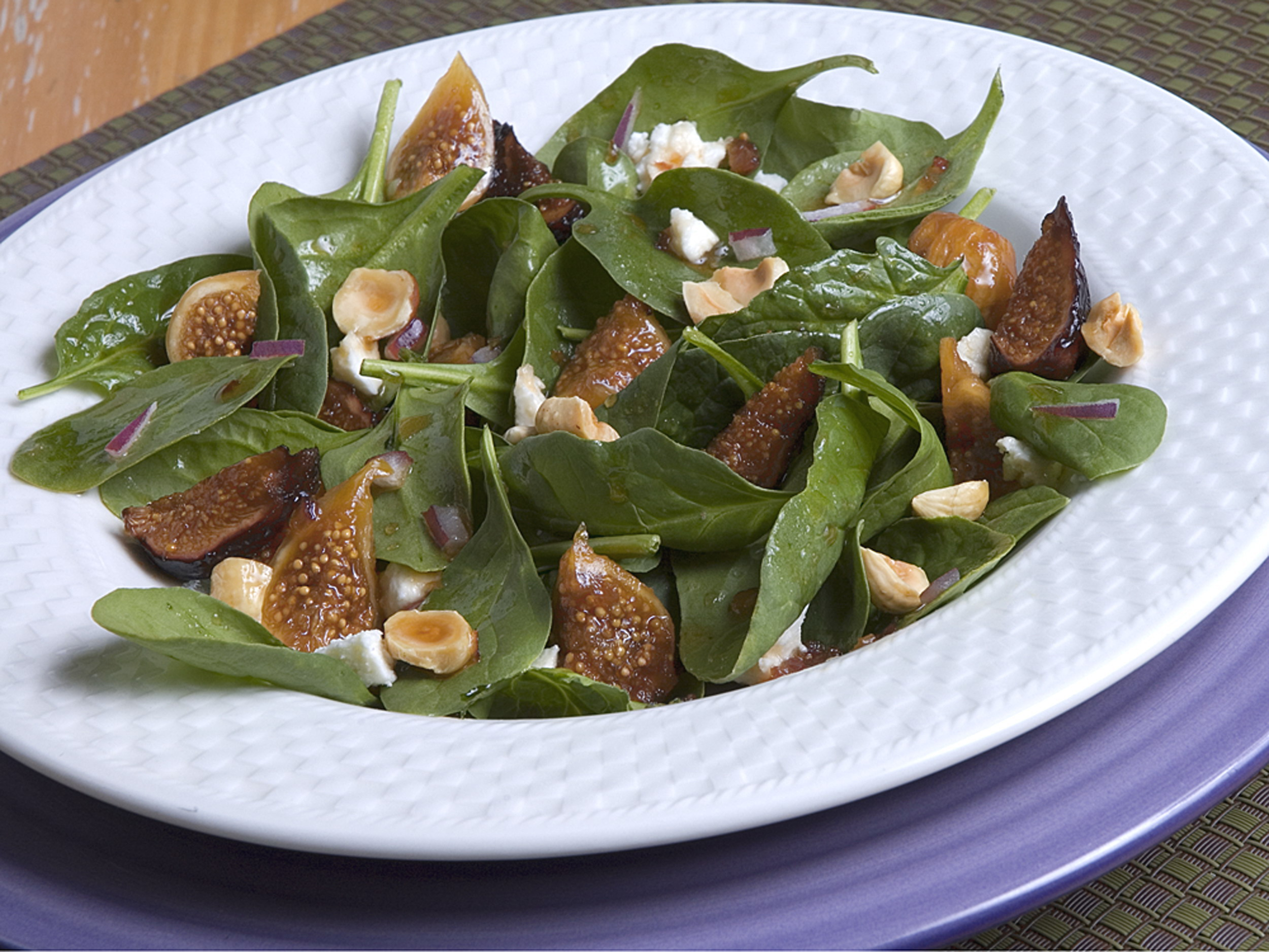 Simply Spinach and Fig Salad