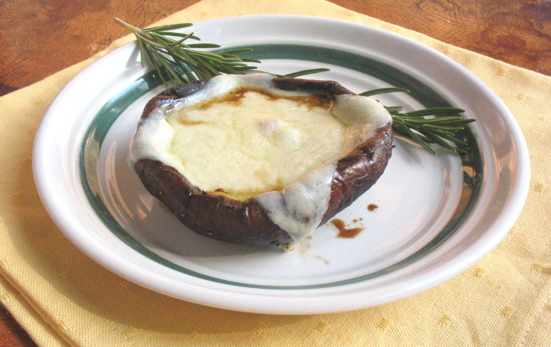 Grilled Portobello Mushrooms with Fontina Melt