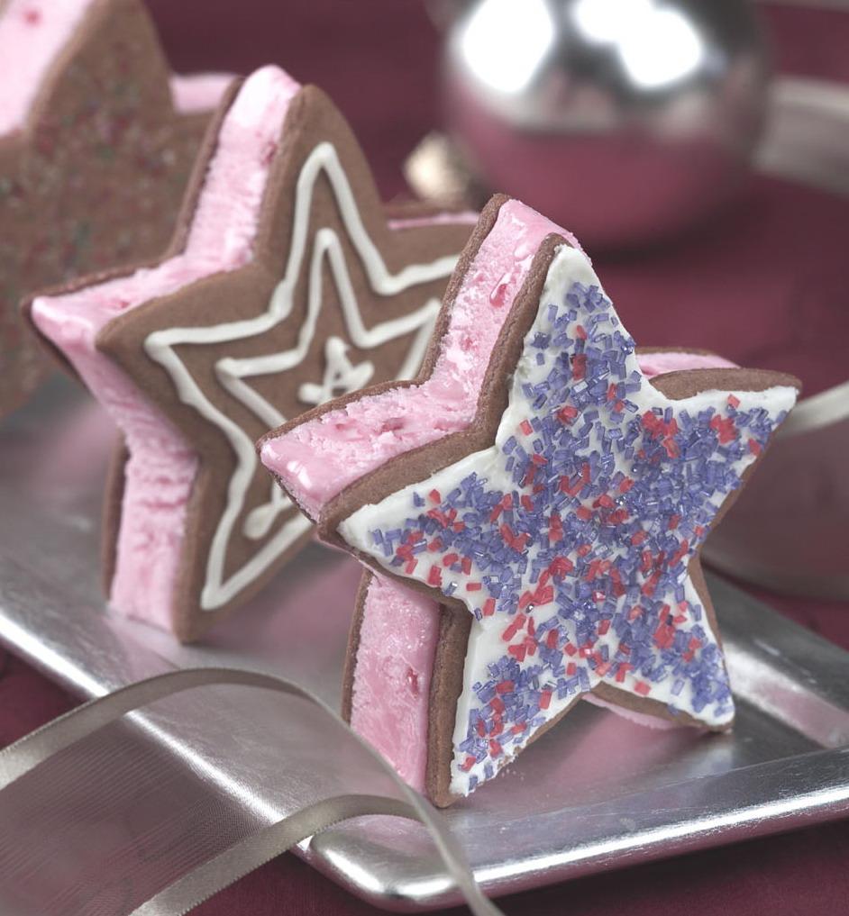 Peppermint Ice Cream Stars