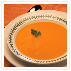 Quick Curried Carrot Soup