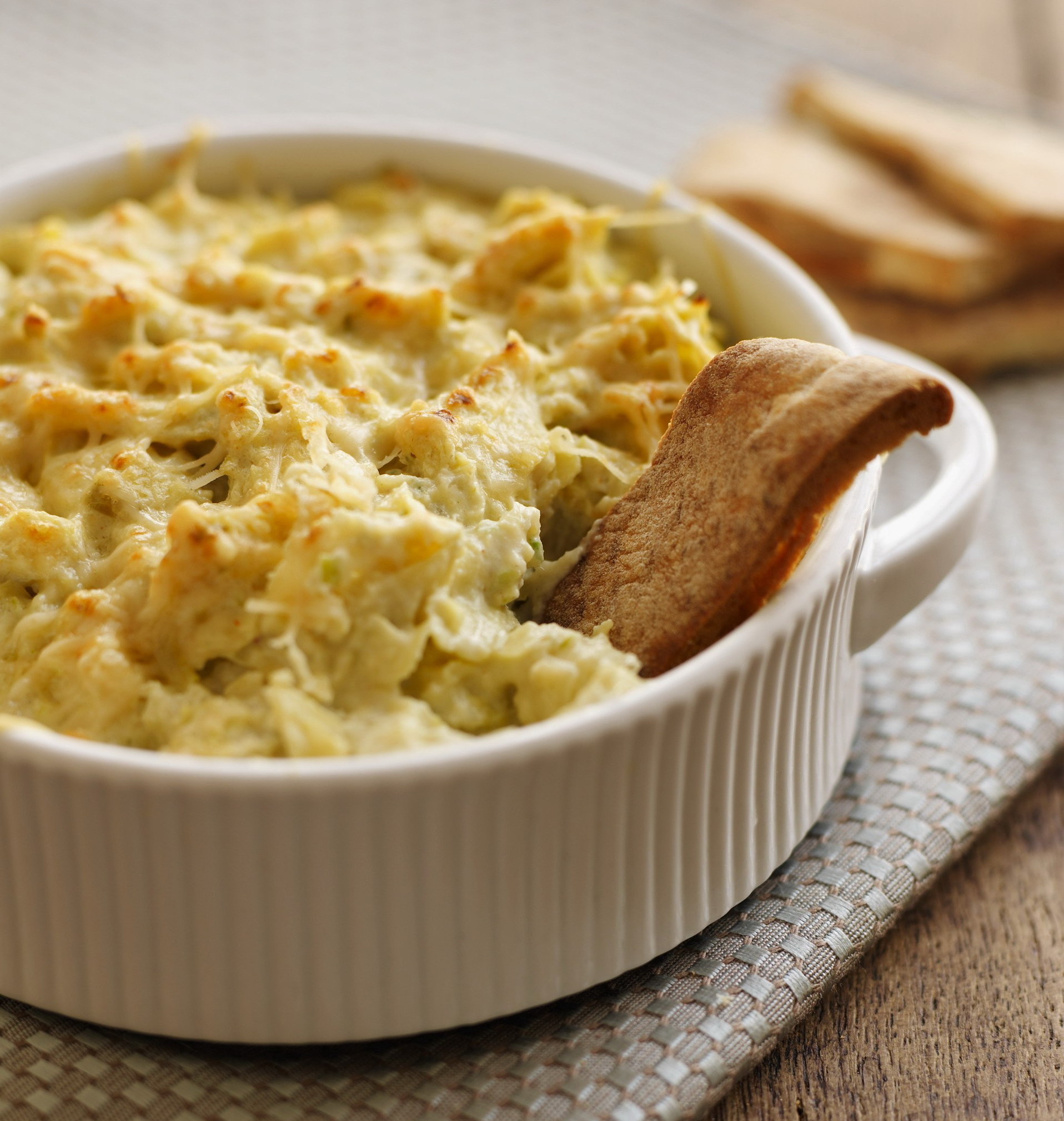 Warm Artichoke Dip with Scallions and Jalapeno CROP