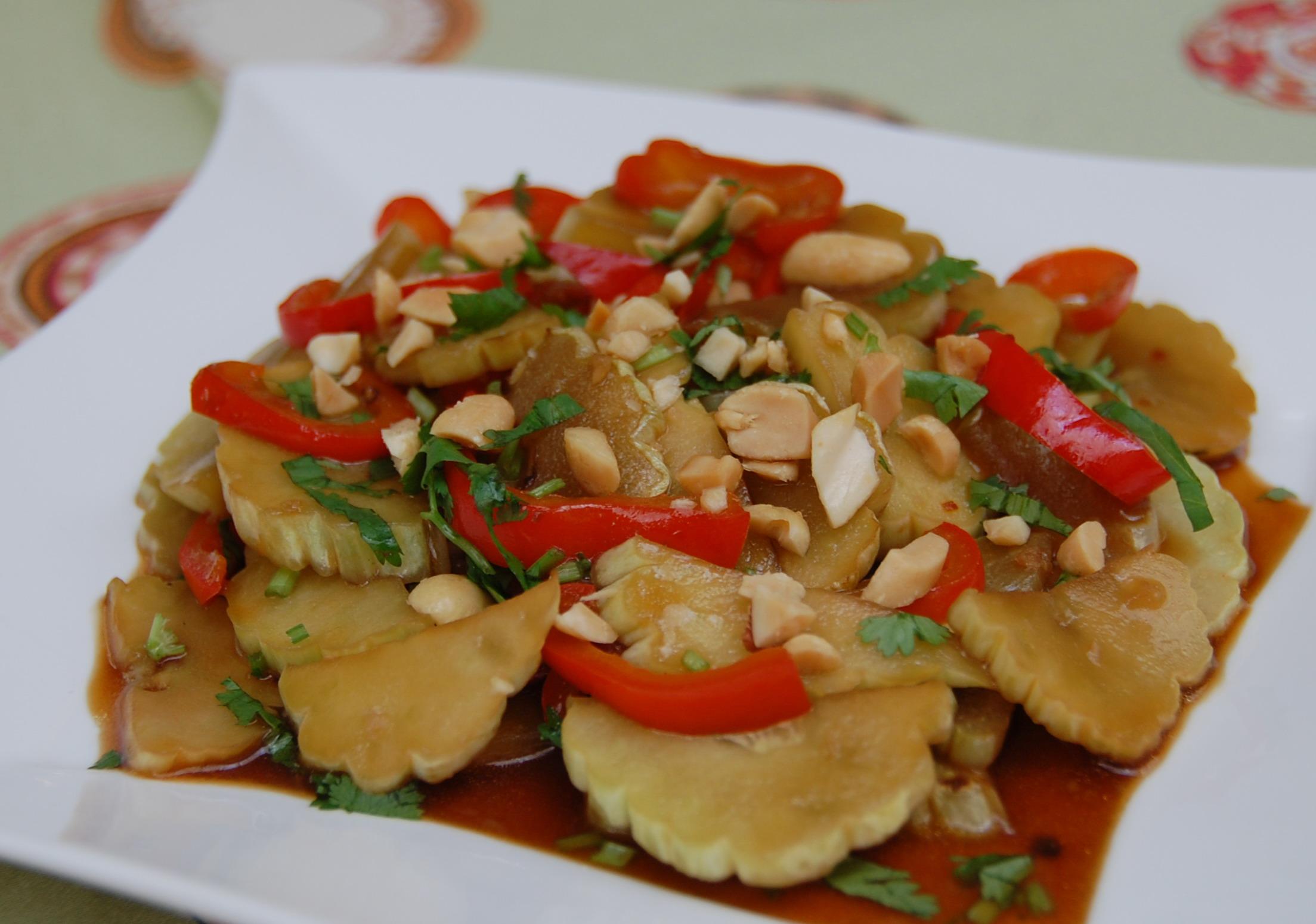 Sesame Peanut Cucumbers