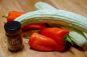 Ingredients for Sesame Peanut Cucumbers