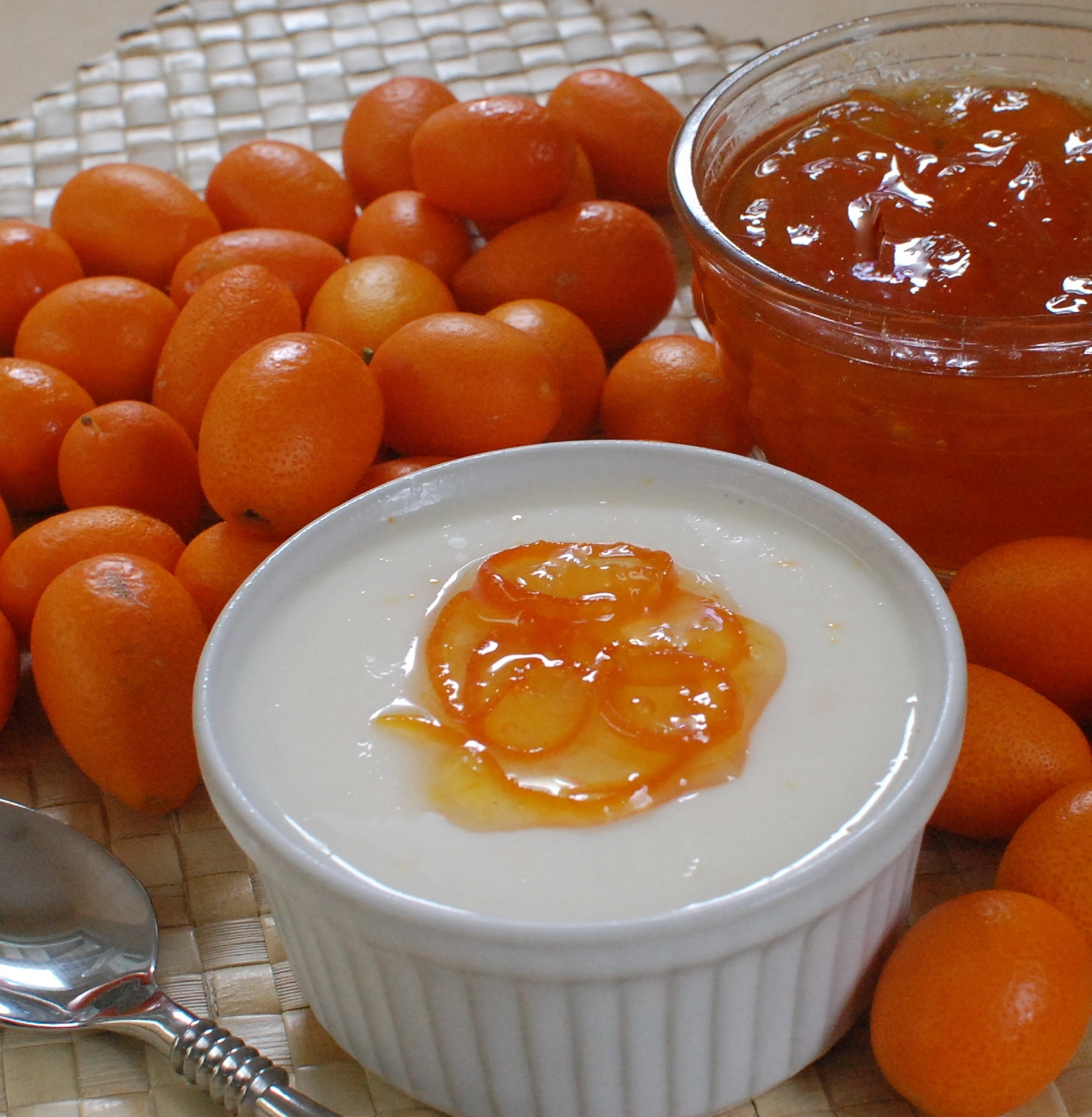 Buttermilk Panna Cotta with Kumquat Marmalade