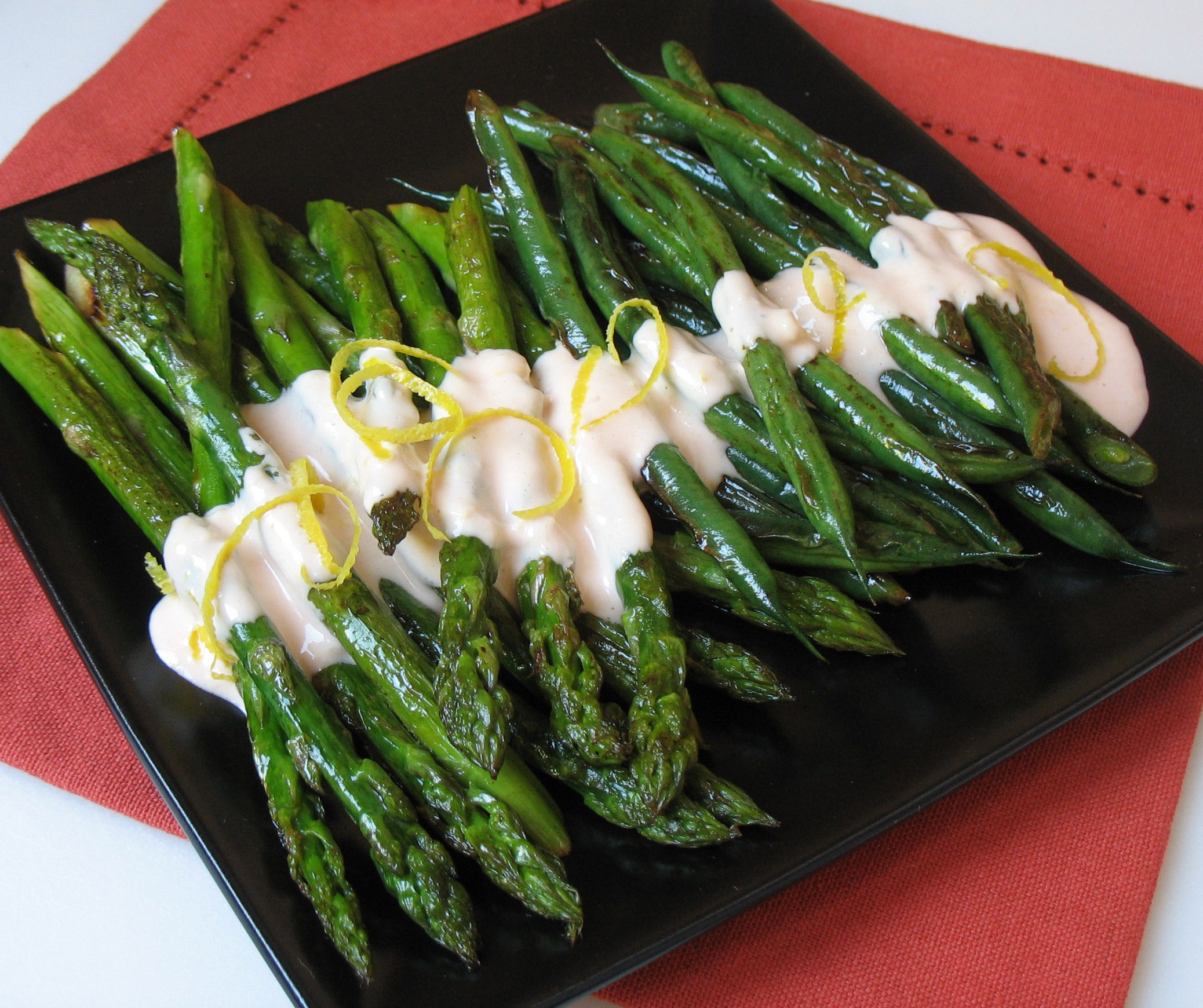 Asparagus with Warm Angostura Mayonnaise