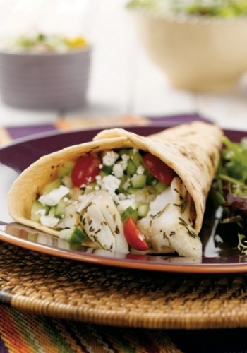 Halibut Tacos with Cucumber Salsa