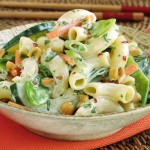 Szechaun Macaroni Salad with Ginger Dressing