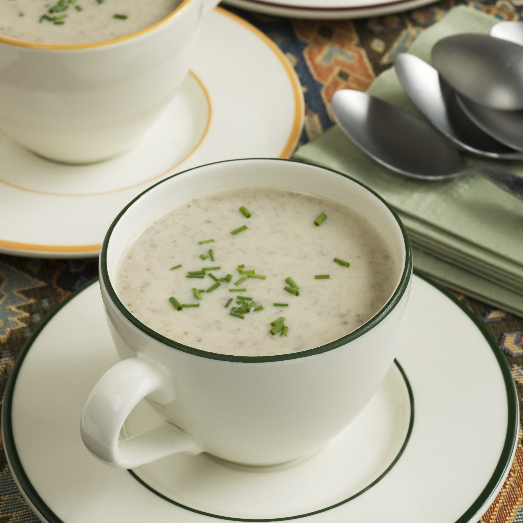 Creamy, yet light, Sherried Mushroom Soup
