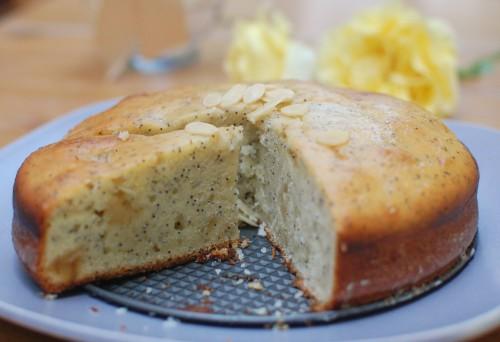 Marzipan Poppyseed Cake