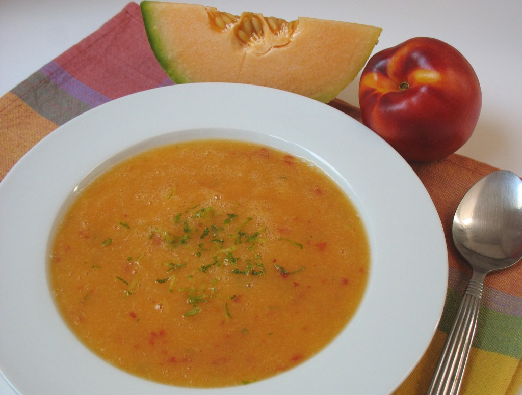 Summer Fruit Gazpacho Recipe — Dishmaps