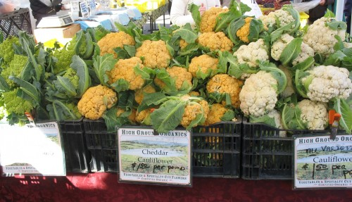 farmers market cauliflower