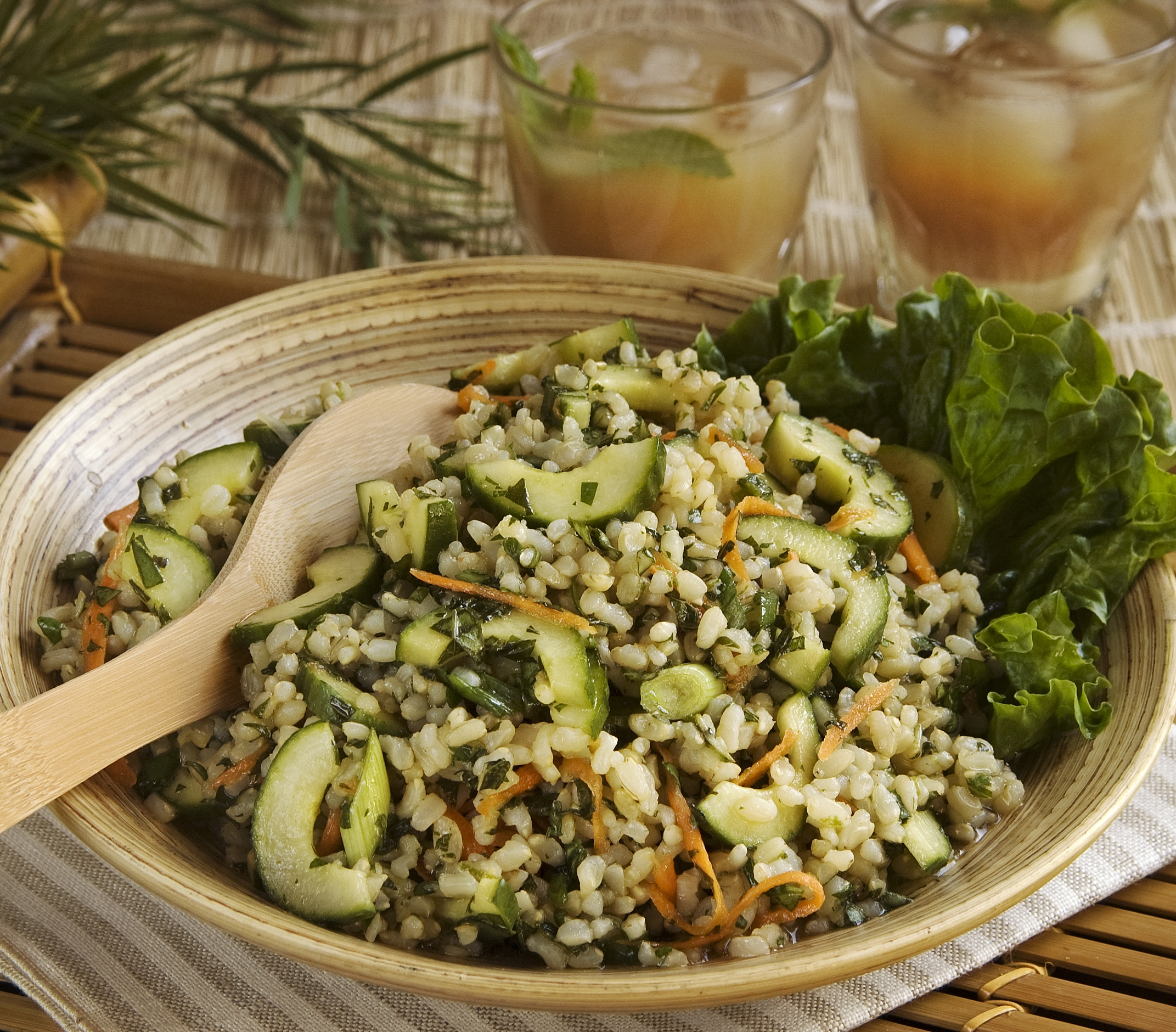 Thai Rice Salad with Three Herbs