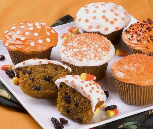 Pumpkin Raisin Party Cupcakes