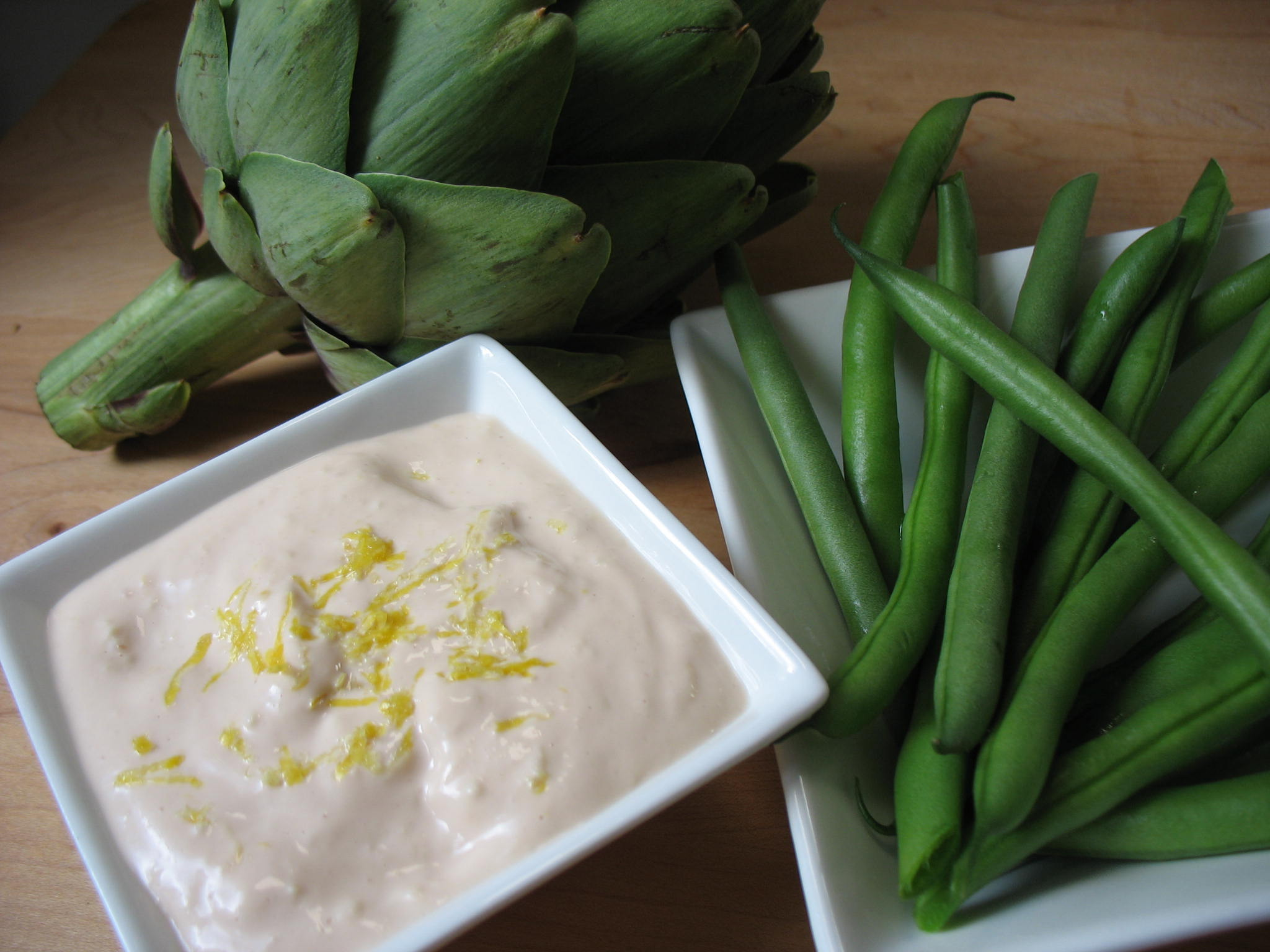 Roasted Asparagus with Warm Bitters Mayonnaise