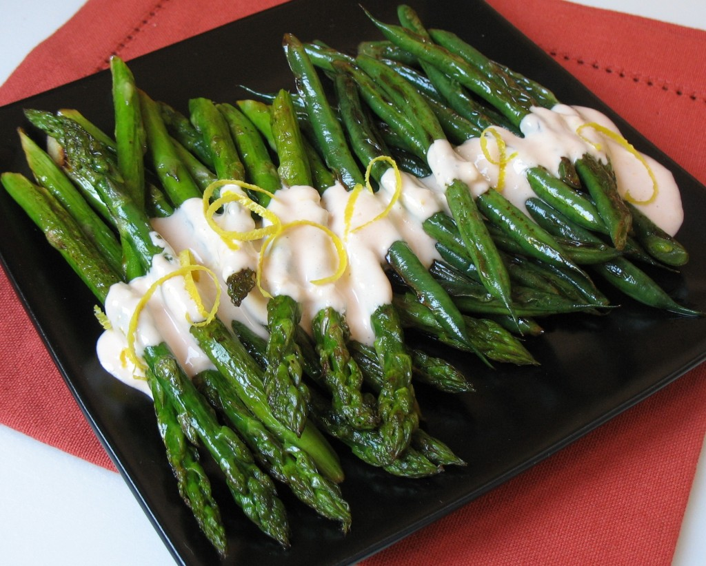 Roasted Asparagus w Bitters Mayonnaise