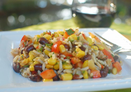 Sofrito Rice Salad