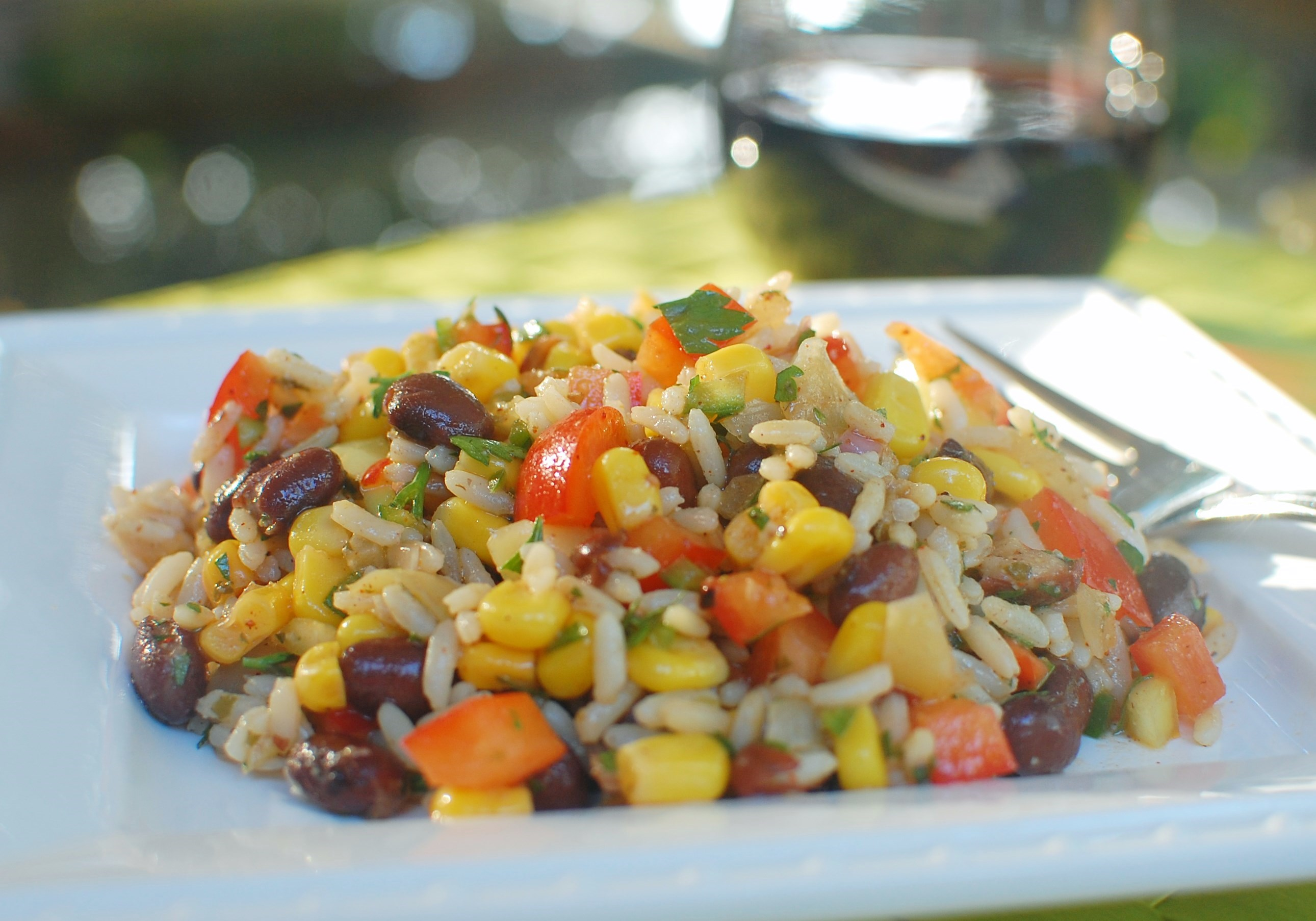 Sofrito Rice & Black Bean Salad