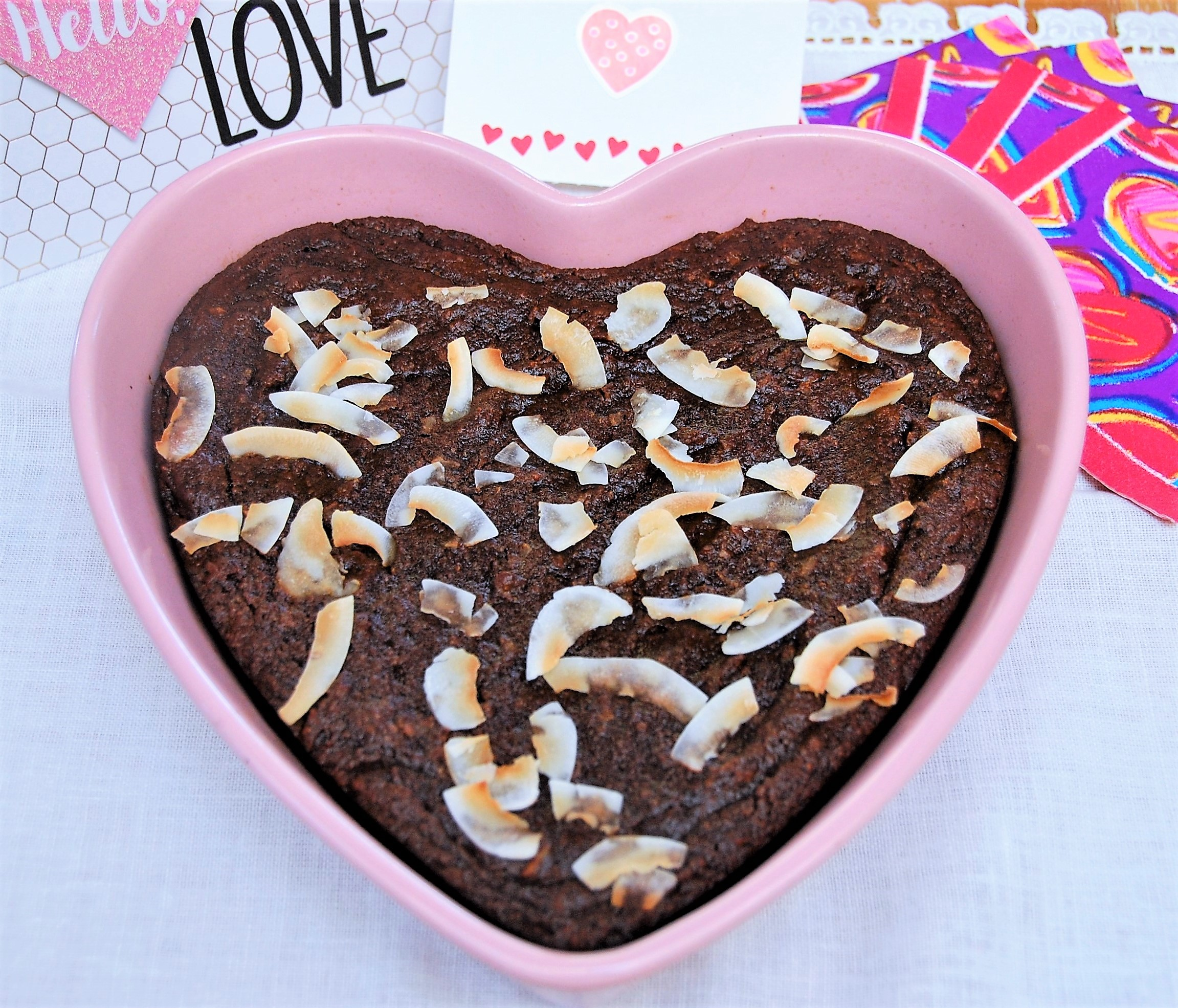 Sweet Heart Cocoa Coconut Torte