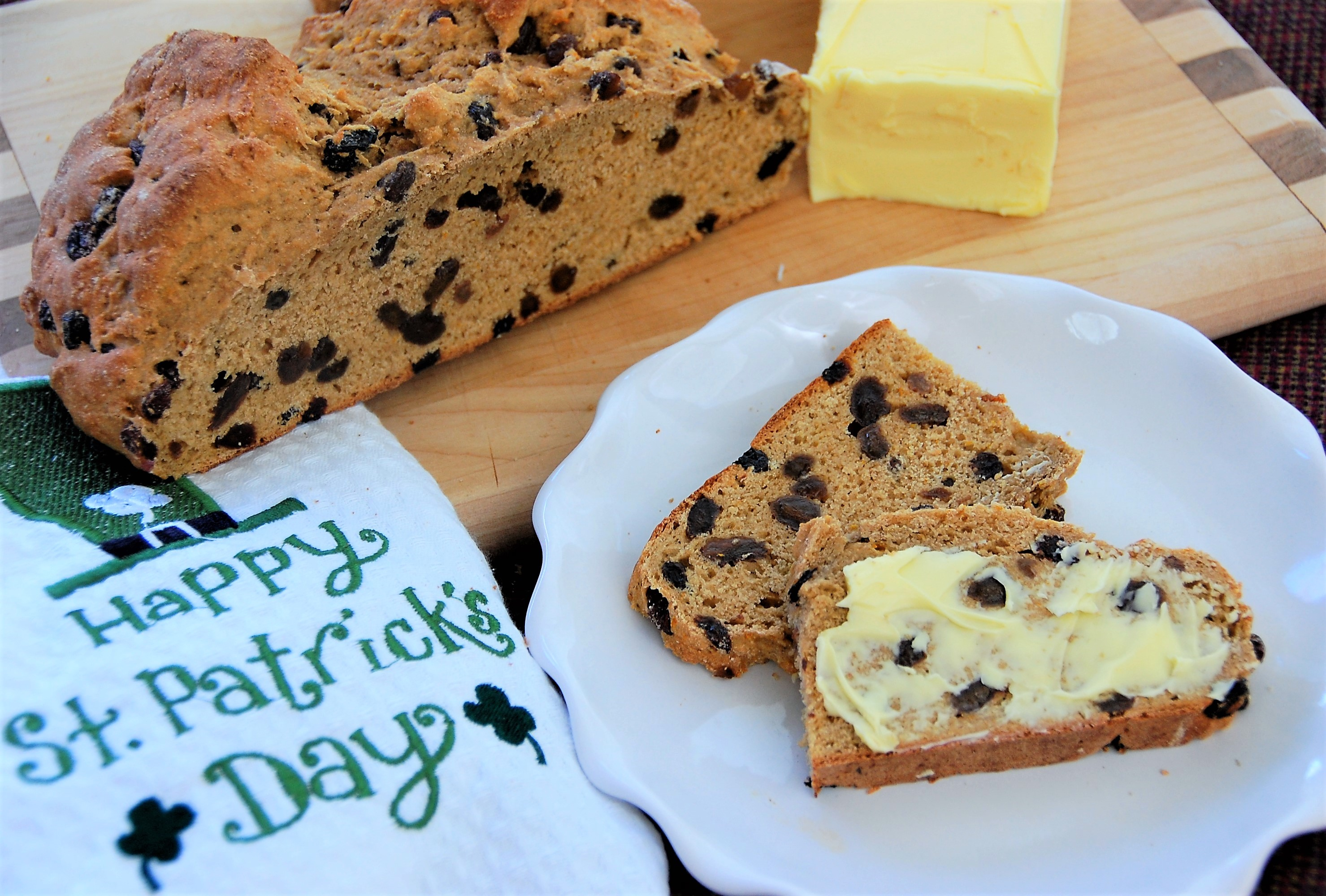 Irish Raisin Soda Bread with Orange Zest