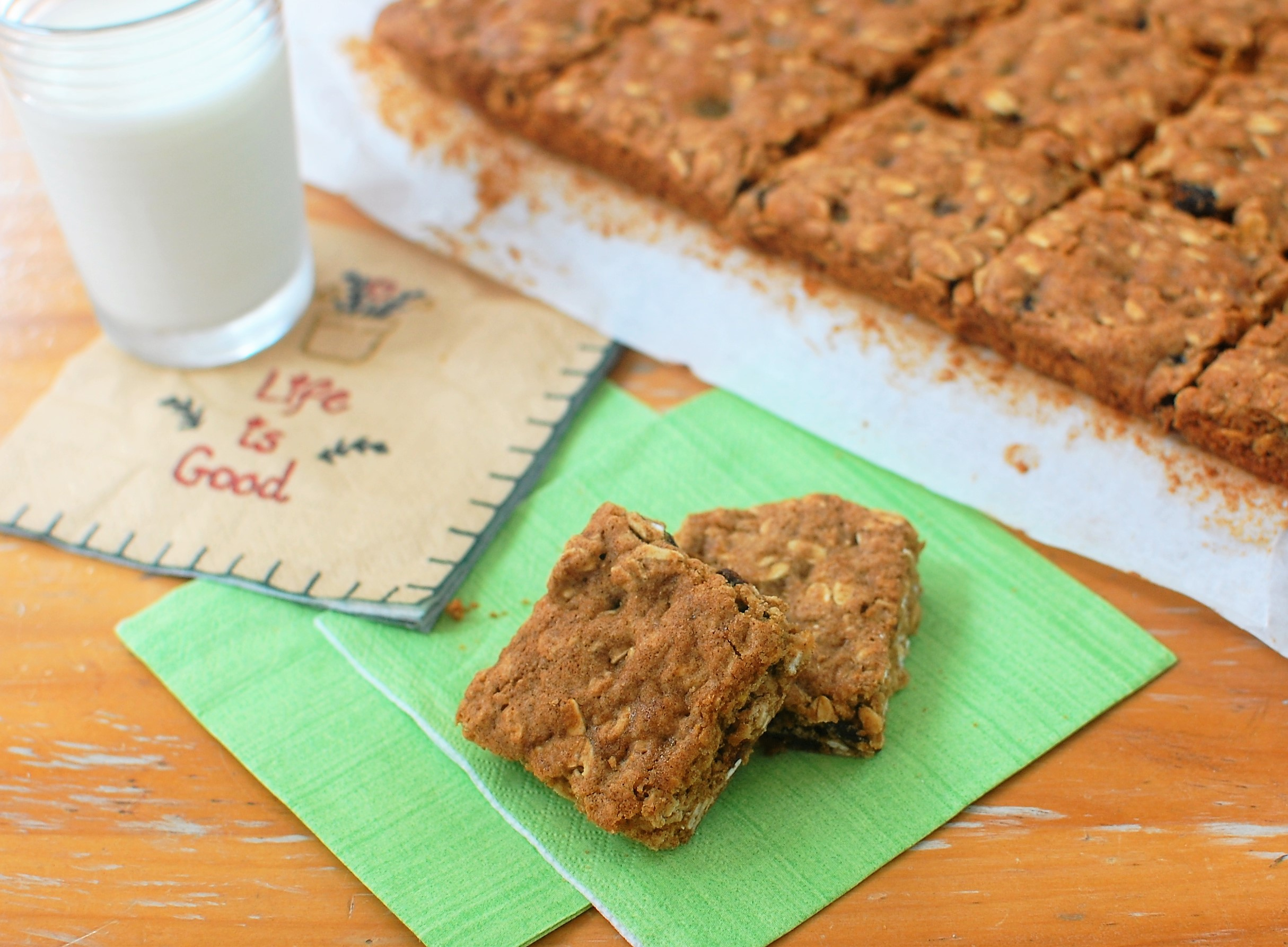 Really Good Low-fat Raisin Oatmeal Cookie Bars