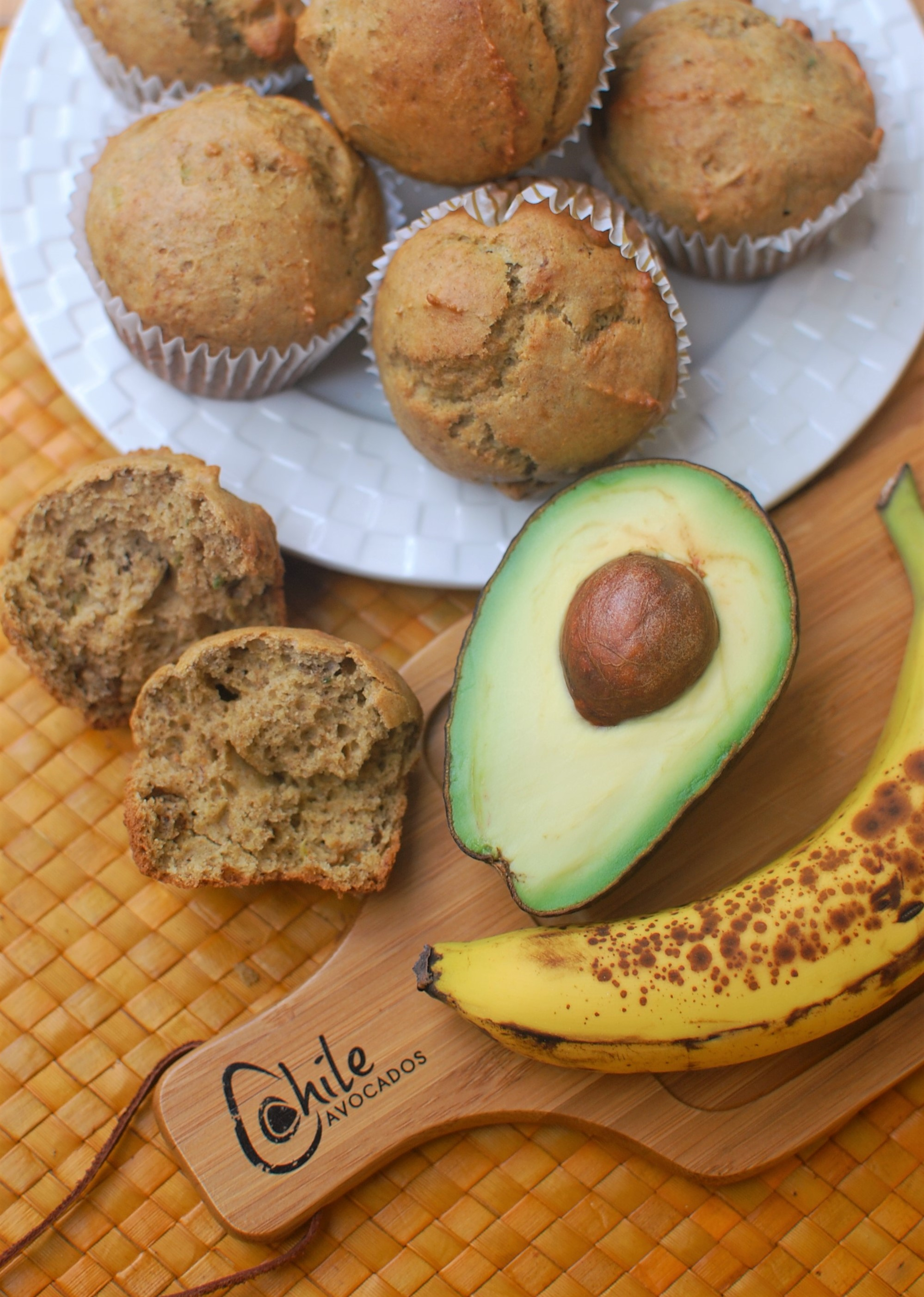 Banana Avocado Muffins