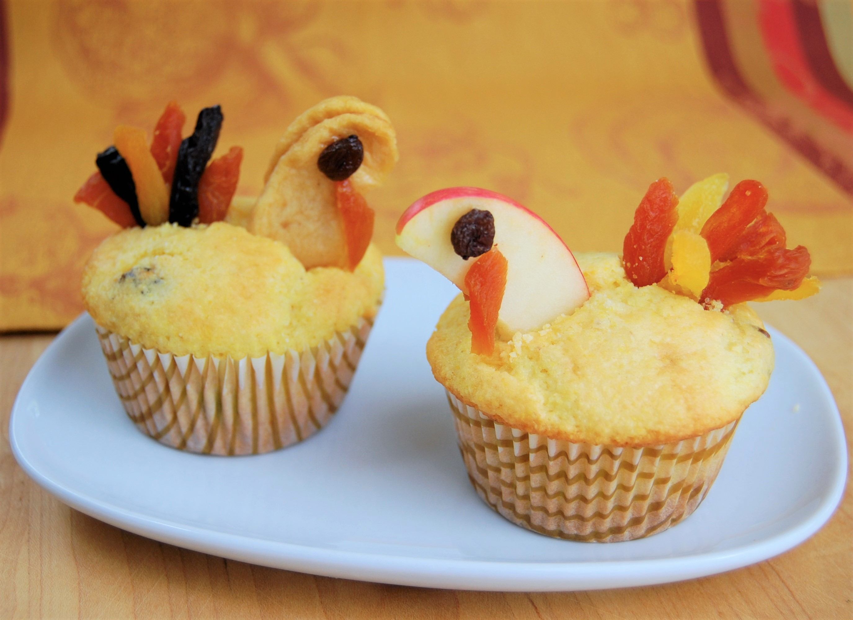 Corn Muffin 'Turkeys'
