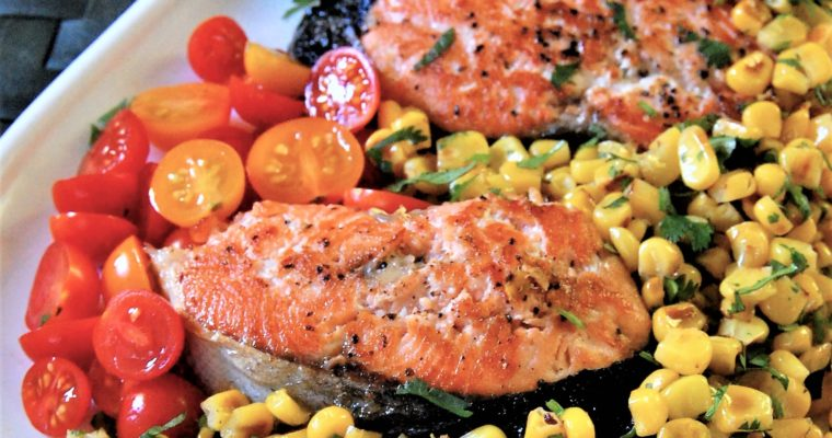 Salmon with Ginger Corn Salsa