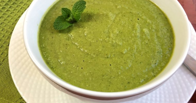 Moringa Mint Pea Soup