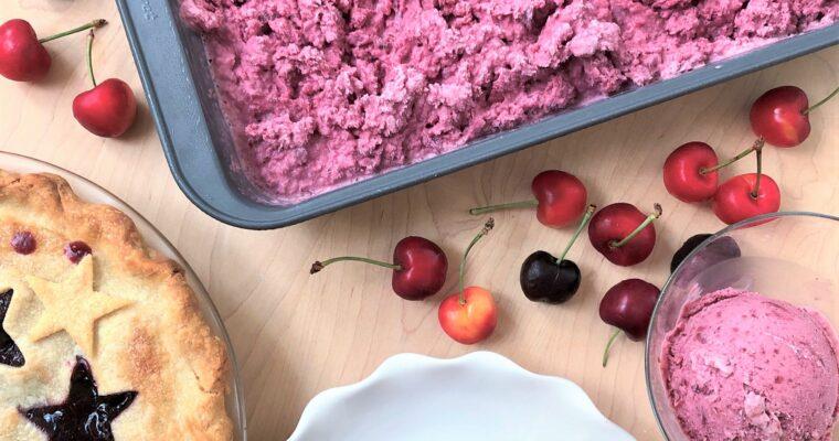 Cherry Pie & Cherry Ice Cream